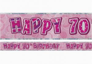 Happy Birthday Banners Tesco Dazzling Effects 70th Birthday Banner Each