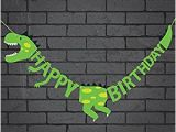 Happy Birthday Banners to Print at Home Amazon Com Dinosaur Happy Birthday Banner Party Supplies