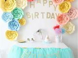 Happy Birthday Banners to Print at Home Cyuan 23pcs Cute Diy Flower Paper Backdrop Glitter Happy