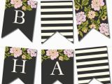 Happy Birthday Banners to Print at Home Free Printable Customizable Whimsical Botanical Banner