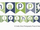 Happy Birthday Banners to Print Free Diy Blue Green Happy Birthday Banner Printable