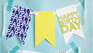 Happy Birthday Banners to Print Off Free Printable Happy Birthday Banner Pizzazzerie