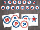 Happy Birthday Banners to Print Off Instant Download Patriotic Happy Birthday Banner Patriotic