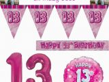 Happy Birthday Banners Uk Pink Age 13 Happy 13th Birthday Party Decorations Banners
