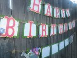 Happy Birthday Banners with Flowers Personalized Flower Happy Birthday Banner