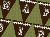 Happy Birthday Banners with Names Football Happy Birthday Banner Pennant 6×7 5 Quot Print
