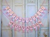 Happy Birthday Banners with Names Happy 1st Birthday Banner Name with butterflies Optional