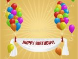Happy Birthday Banners with Photos Happy Birthday Banner with Balloons Stock Vector