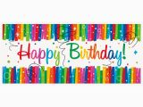 Happy Birthday Banners with Photos Rainbow Ribbons Happy Birthday Giant Banner