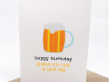 Happy Birthday Beer Cards Birthday Card Male Large Beer Hbm061 Happy Birthday