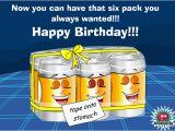 Happy Birthday Beer Cards Ecards Birthday 6 Pack