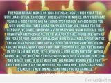 Happy Birthday Best Friend Long Quotes Long Happy Birthday Quote for Friends Quote Genius Quotes