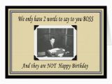 Happy Birthday Boss Greeting Card Happy Birthday Boss From Group Greeting Cards Zazzle