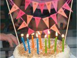 Happy Birthday Cake Banner Diy Diy Happy Birthday Banner Party Birthday Ideas