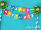 Happy Birthday Cake Banner Printable Birthday Cake Bunting Skip to My Lou