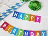 Happy Birthday Cake Banner Printable Guirlande Happy Birthday A Imprimer Printables Typos