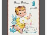 Happy Birthday Card 1 Year Old Happy Birthday Wishes for One Year Old