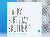 Happy Birthday Card for Brother with Name Funny Brother Birthday Card Birthday Card for Brother Happy