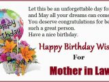 Happy Birthday Card for Mother In Law Happy Birthday Quotes for Mom In Law