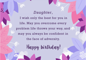 Happy Birthday Card For My Daughter Wishes