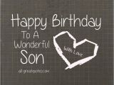Happy Birthday Card for son On Facebook Happy Birthday to A Wonderful son with Love Free Cards