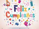Happy Birthday Card In Spanish to Print Feliz Cumpleanos Happy Birthday Spanish Card Stock Vector