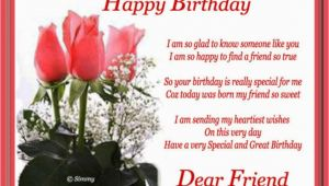 Happy Birthday Card to A Special Friend Birthday Wishes for Friend Wishes Greetings Pictures