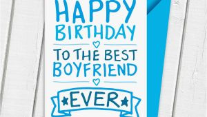 Happy Birthday Card to My Boyfriend Happy Birthday Boyfriend Card by A is for Alphabet