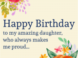 Happy Birthday Card to My Daughter 69 Birthday Wishes for Daughter