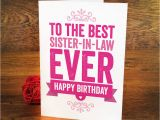 Happy Birthday Card to My Sister In Law 55 Birthday Wishes for Sister In Law Wishesgreeting