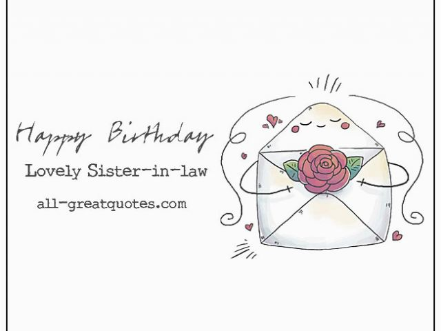 Happy Birthday Card To My Sister In Law Happy Birthday Lovely Sister