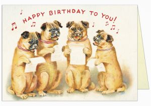 Happy Birthday Cards For Dogs Cavallini And Co Singing Greeting
