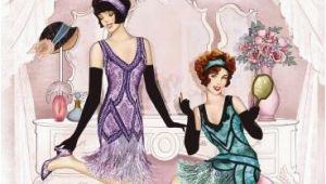 Happy Birthday Cards for Ladies Art Deco 1920 39 S Flapper Ladies Dressing Happy Birthday