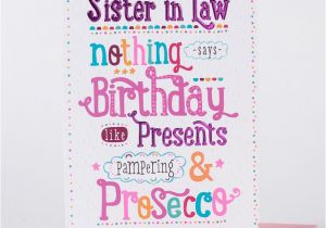 Happy Birthday Cards For Sister In Law Card Proseccos Only 99p