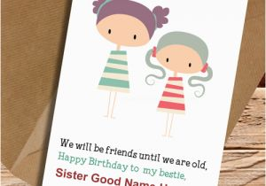 Happy Birthday Cards For Sister With Name My Cutest Write Wish Card Pictures
