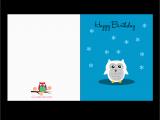 Happy Birthday Cards Printable Free Printable Cute Owl Birthday Cards