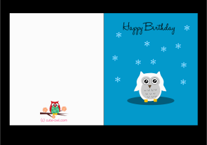 Happy Birthday Cards Printable Free Printable Cute Owl Birthday Cards
