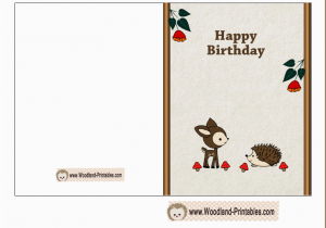 Happy Birthday Cards Printable Free Printable Woodland Birthday Cards