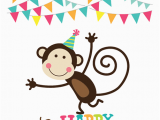 Happy Birthday Cards with Monkeys Birthday Monkey Symbols Emoticons
