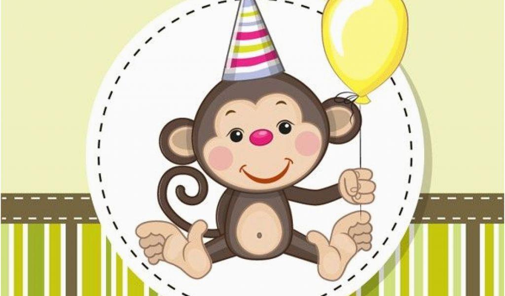 Happy Birthday Cards With Monkeys Cartoon Monkey Birthday Card