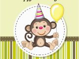Happy Birthday Cards with Monkeys Cartoon Monkey Birthday Card Vector Printables