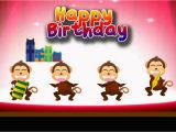 Happy Birthday Cards with Monkeys E Card Happy Birthday Monkey Party Youtube