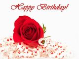 Happy Birthday Cards with Roses Happy Birthday Card with Red Rose Gallery Yopriceville
