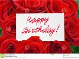 Happy Birthday Cards with Roses Roses and Card Happy Birthday Stock Photo Image Of Bunch