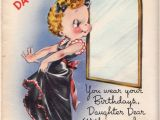 Happy Birthday Daughter Card Images Vintage 1950s Unused Happy Birthday Daughter Greetings Card