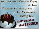 Happy Birthday Dear Brother Quotes Happy Birthday Brother 50 Brother 39 S Birthday Wishes