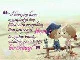 Happy Birthday Dear Husband Quotes Happy Birthday Greeting Card with Cute Saying for My