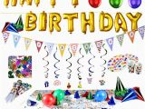 Happy Birthday Decoration Items Happy Birthday Decorations Amazon Com