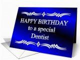 Happy Birthday Dentist Quotes Happy Birthday Dentist Blue and Silver Card 1149298