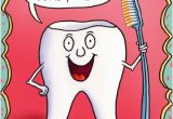Happy Birthday Dentist Quotes tooth Holding toothbrush Funny Birthday Card by Oatmeal